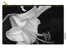 Single Lily In Black And White. Carry-all Pouch