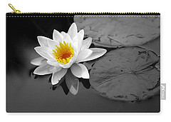 Carry-all Pouch featuring the photograph Single Lily by Shari Jardina