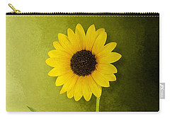 Carry-all Pouch featuring the photograph Single Long Stem Sunflower by Debi Dalio