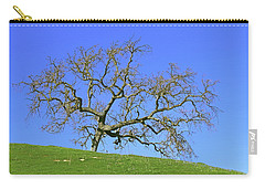 Carry-all Pouch featuring the photograph Single Oak Tree by Art Block Collections
