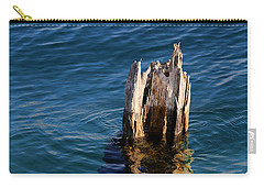 Single Old Piling 3 Vertical Carry-all Pouch by Mary Bedy