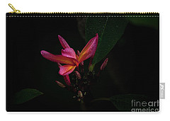Single Red Plumeria Bloom Carry-all Pouch