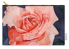Watercolor Of A Magic Bright Single Red Rose Carry-all Pouch