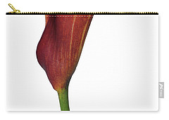 Single Rust Calla Lily Stem Carry-all Pouch