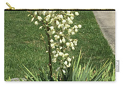 Carry-all Pouch featuring the photograph Single Strand White Flower Nature Photography Birthday Christmas Holidays Festivals Mom Dad Sister  by Navin Joshi