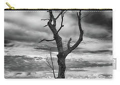 Single Tree In Black And White Carry-all Pouch