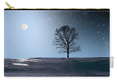 Single Tree In Moonlight Carry-all Pouch