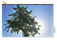 Single Tree - Sun And Blue Sky Carry-all Pouch