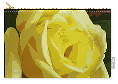 Friendship Rose Abstract Carry-all Pouch