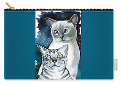 Sini And Nimbus - Cat Portraits Carry-all Pouch
