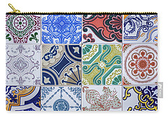 Carry-all Pouch featuring the photograph Sintra Tiles by Carlos Caetano