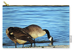 Sipping And Preening On The Beach Carry-all Pouch