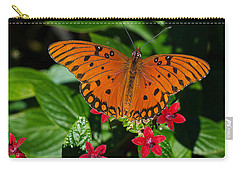 Sipping Gulf Fritillary Carry-all Pouch by Kenneth Albin