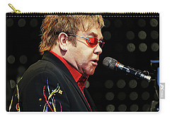 Sir Elton John At The Piano Carry-all Pouch by Elaine Plesser
