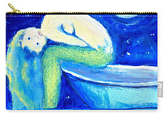 Carry-all Pouch featuring the painting Siren Sea by Dawn Harrell