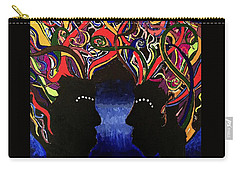 Sis The Twins - Abstract Silhouette Painting - Sisterhood - Abstract Painting  Carry-all Pouch