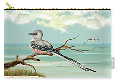Sissor Tailed Flycatcher Carry-all Pouch by Anne Beverley-Stamps