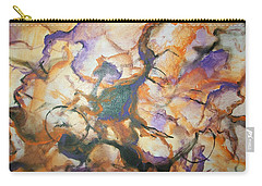 Carry-all Pouch featuring the painting Sistaz by Raymond Doward