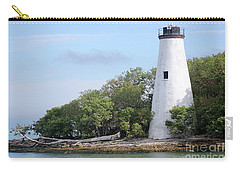 Sister Island Lighthouse Carry-all Pouch by The Art of Alice Terrill