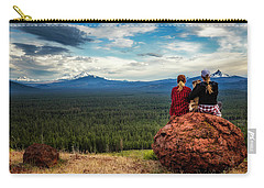 Carry-all Pouch featuring the photograph Sisters by Cat Connor