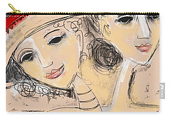 Sisters Carry-all Pouch by Elaine Lanoue