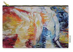 Carry-all Pouch featuring the painting Sisters by Marat Essex