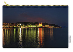 Carry-all Pouch featuring the photograph Sitges Night 001 by Lance Vaughn