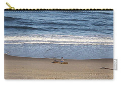 Carry-all Pouch featuring the photograph Sittin And Thinkin  by Marie Neder