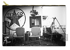 Sitting At The Texaco Black And White Carry-all Pouch