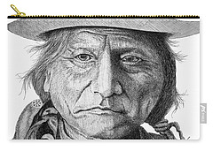 Sitting Bull Carry-all Pouch by Lawrence Tripoli