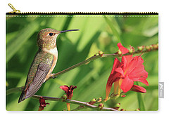 Sitting By A Flower Carry-all Pouch