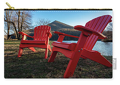 Sitting By The Lake Carry-all Pouch by Steve Hurt