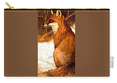 Sitting Fox Carry-all Pouch