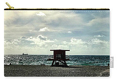 Sitting On The Beach Carry-all Pouch