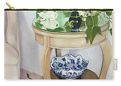 Carry-all Pouch featuring the painting Sitting Pretty by Marlene Book