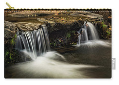 Carry-all Pouch featuring the photograph Sitting Under The Waterfall  by Saija Lehtonen