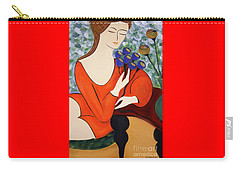 Sitting Women Carry-all Pouch