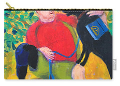 Carry-all Pouch featuring the painting One Team Two Heroes-4 by Donald J Ryker III