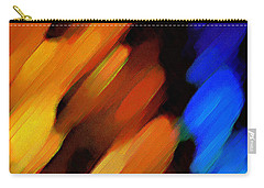 Carry-all Pouch featuring the painting Sivilia 3 Abstract by Donna Corless
