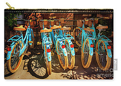 Carry-all Pouch featuring the photograph Six Huffy Bicycles by Craig J Satterlee