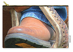 Carry-all Pouch featuring the photograph Size Nine by Ann E Robson