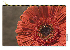 Skc 5127 The Heart Of The Gerbera Carry-all Pouch by Sunil Kapadia