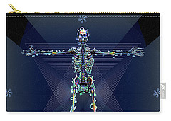 Carry-all Pouch featuring the digital art Skeletal System by Iowan Stone-Flowers