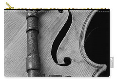 Skeleton Key On Violin Carry-all Pouch by Garry Gay