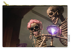Carry-all Pouch featuring the photograph Skeletons Of Carmel by Lora Lee Chapman