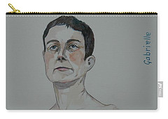 Sketch For Gabrielle Carry-all Pouch by Ray Agius