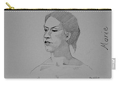 Sketch For Marie Seated Carry-all Pouch by Ray Agius