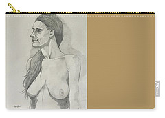 Sketch Mary Lying Carry-all Pouch
