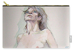 Carry-all Pouch featuring the painting Sketch For Megan Iv by Ray Agius