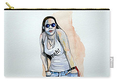 Carry-all Pouch featuring the painting Sketch For Meh by Ray Agius